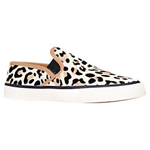 Buy Carvela Laurel Flat Slip On Trainers, Leopard Pony Online at johnlewis.com
