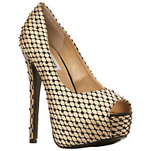 Buy Steve Madden Satin Redcarpet Platform Stiletto Court Shoes Online at johnlewis.com