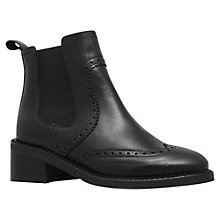 Buy KG by Kurt Geiger Skate Leather Ankle Boots, Black Online at johnlewis.com