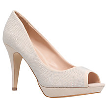 Buy Miss KG Georgia Heeled Peep Toe Court Shoes, Nude Online at johnlewis.com