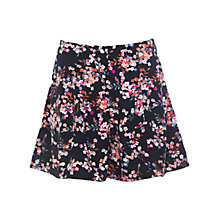 Buy Miss Selfridge Floral Skort, Black Online at johnlewis.com