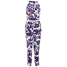 Buy Miss Selfridge Floral Jumpsuit, Multi Online at johnlewis.com