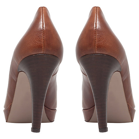 Buy Carvela Alison Leather Platform Stiletto Court Shoes, Tan Online at johnlewis.com