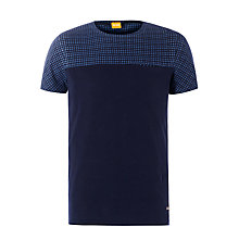Buy BOSS Orange Thialdo T-Shirt, Navy Online at johnlewis.com