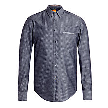 Buy BOSS Orange Cieloebue Polka Dot Shirt, Grey Online at johnlewis.com