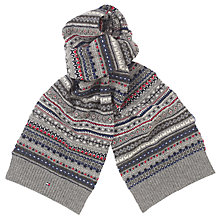 Buy Tommy Hilfiger Foto Scarf, Silver Fog Heather Online at johnlewis.com