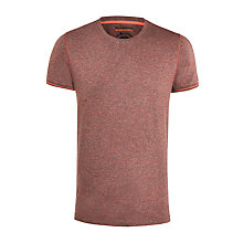 Buy BOSS Orange Marl Cotton Short Sleeve T-Shirt, Burgundy Online at johnlewis.com