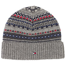 Buy Tommy Hilfiger Foto Beanie Hat, One Size, Silver Fog Heather Online at johnlewis.com