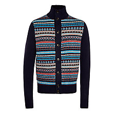Buy Tommy Hilfiger Fair Isle Intarsia Knit Cardigan, Navy/Multi Online at johnlewis.com
