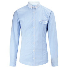 Buy BOSS Orange Erounde Gingham Shirt, Blue Online at johnlewis.com