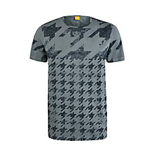 Buy BOSS Orange Track-One Cotton T-Shirt, Grey Online at johnlewis.com