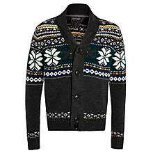 Buy Tommy Hilfiger Imani Fair Isle Cardigan, Charcoal/Multi Online at johnlewis.com
