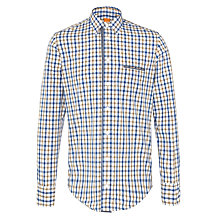 Buy BOSS Orange Cieloebue Check Shirt, Blue/Mustard Online at johnlewis.com
