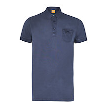Buy BOSS Orange Prasston Dyed Pique Polo Shirt Online at johnlewis.com