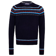 Buy Tommy Hilfiger Fair Isle Finn Jumper, Navy Online at johnlewis.com