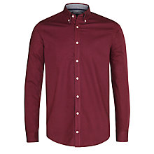 Buy Tommy Hilfiger Liam Slim Fit Shirt, Red Plum Online at johnlewis.com