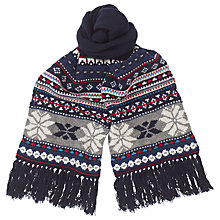 Buy Tommy Hilfiger Imani Scarf, Blue/Grey Online at johnlewis.com