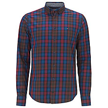 Buy Tommy Hilfiger Thomas Check Shirt, Red Plum Online at johnlewis.com