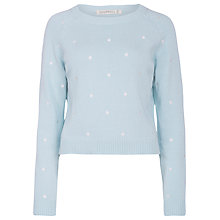 Buy Sugarhill Boutique Dotty Sweater, Aqua/White Online at johnlewis.com