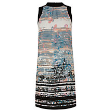 Buy Warehouse Blurred Stripe High Neck Dress, Multi Online at johnlewis.com