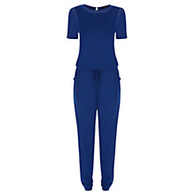 Buy Warehouse Mesh Panel T-Shirt Jumpsuit Online at johnlewis.com