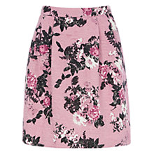 Buy Warehouse Pattern Floral Jacquard Skirt, Pink Pattern Online at johnlewis.com
