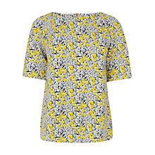 Buy Warehouse Floral Textured Crepe Top, Multi Online at johnlewis.com