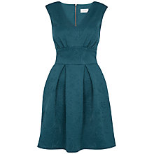 Buy Almari V Neck Scuba Dress, Green Online at johnlewis.com