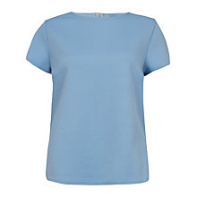 Buy Closet Waffle Contrast Top, Pale Blue Online at johnlewis.com