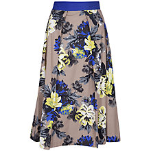 Buy Closet Floral Contrast Skirt, Multi Online at johnlewis.com