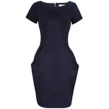 Buy Closet Jacquard Contrast Big Pocket Dress, Navy Online at johnlewis.com