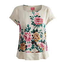 Buy Joules Rose Woven Top, Cream Rose Online at johnlewis.com