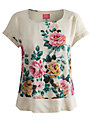 Joules Rose Woven Top, Cream Rose