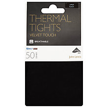 Buy John Lewis 50 Denier Thermal Tights, Black Online at johnlewis.com
