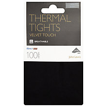 Buy John Lewis 100 Denier Opaque Thermal Tights, Black Online at johnlewis.com