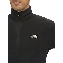 Buy The North Face Glacier 100 1/4 Zip Fleece, Black Online at johnlewis.com