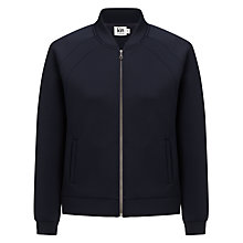 Buy Kin by John Lewis Neoprene Bomber Jacket, Navy/Black Online at johnlewis.com