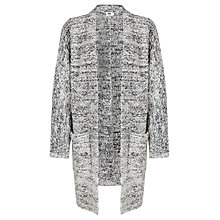 Buy Kin by John Lewis Oversized Textured Cardigan, Grey Online at johnlewis.com