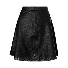 Buy Somerset by Alice Temperley Cut-Out Leather Skirt, Black Online at johnlewis.com
