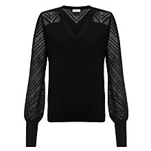 Buy Somerset by Alice Temperley Pointelle Jumper, Black Online at johnlewis.com