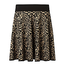 Buy Somerset by Alice Temperley Animal Knit Skirt, Black/Gold Online at johnlewis.com