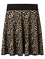 Somerset by Alice Temperley Animal Knit Skirt, Black/Gold