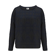 Buy Kin by John Lewis Diamond Jacquard Top, Indigo Online at johnlewis.com
