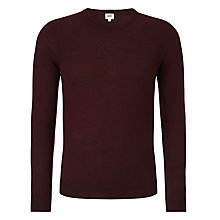 Buy Kin by John Lewis Fine Moss Yoke Crew Neck Jumper, Wine Online at johnlewis.com