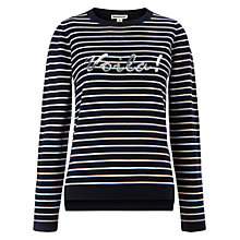 Buy Whistles Voila Stripe Knit, Navy Online at johnlewis.com
