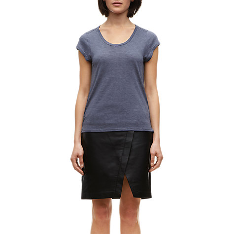 Buy Whistles Faye Seam Back T-Shirt, Navy Online at johnlewis.com