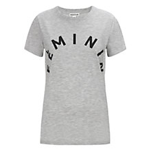 Buy Whistles Feminin Logo T-Shirt, Grey Online at johnlewis.com