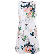 Buy True Decadence Slash Neck Shift Dress, White Flower Online at johnlewis.com