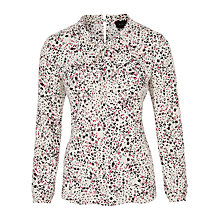 Buy Viyella Twist Front Blouse, Ivory Online at johnlewis.com