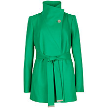 Buy Ted Baker Chessy Short Belted Wrap Coat, Green Online at johnlewis.com